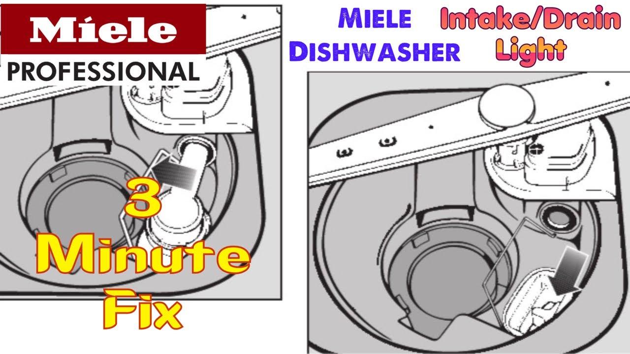 miele dishwasher intake drain light 3 minute fix. Black Bedroom Furniture Sets. Home Design Ideas