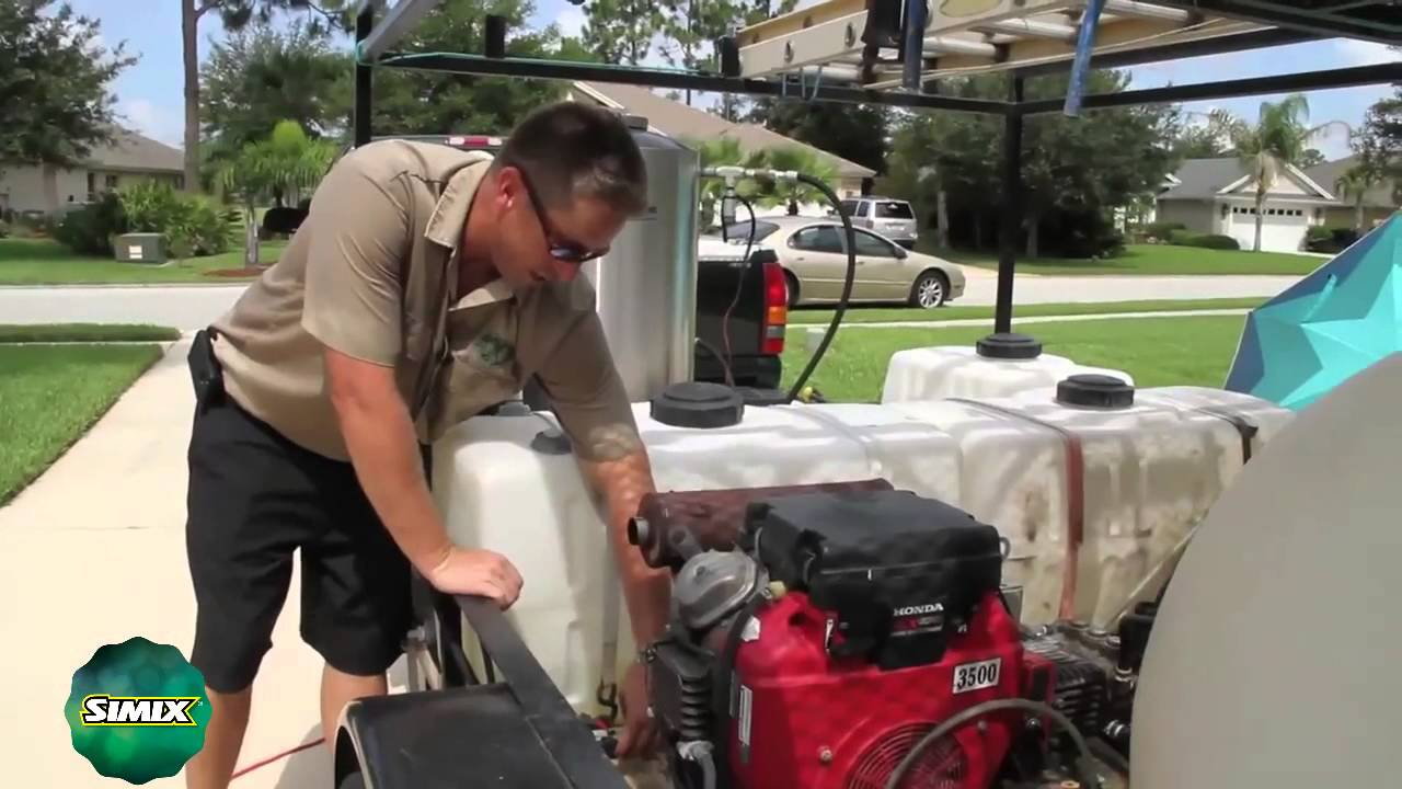 Simix For Contractors How To Set Up Roof Cleaning Equipment Youtube