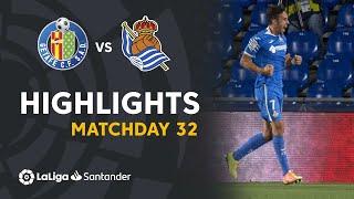 Highlights Getafe CF vs Real Sociedad (2-1)