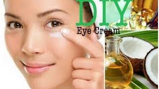 DIY Eye Cream: Coconut Oil & Vitamin E