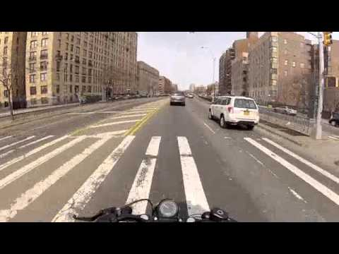 Harley Davidson Forty Eight Cruising on The Grand Concourse The Bronx NYC GoPro Hero3