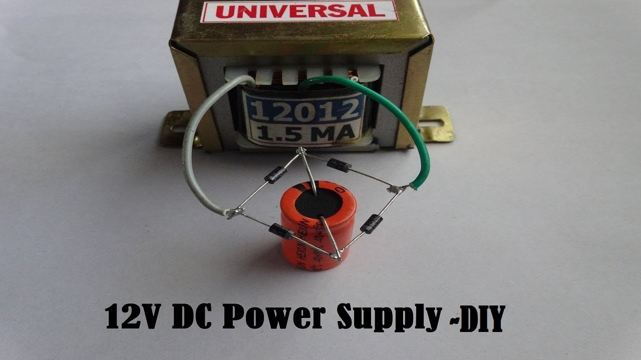 12V DC Power Supply From A Transformer