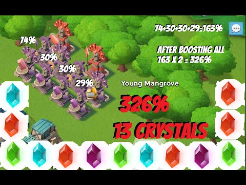 Boom Beach PSC Statues Strategy Trick - Increase Power Stone Chances 326% - Get More Crystals