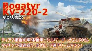 [ゆっくり実況] KV-220-2:ボガトィーリ(読めない) [PS4/WoT/Bogatyr KV-220-2]