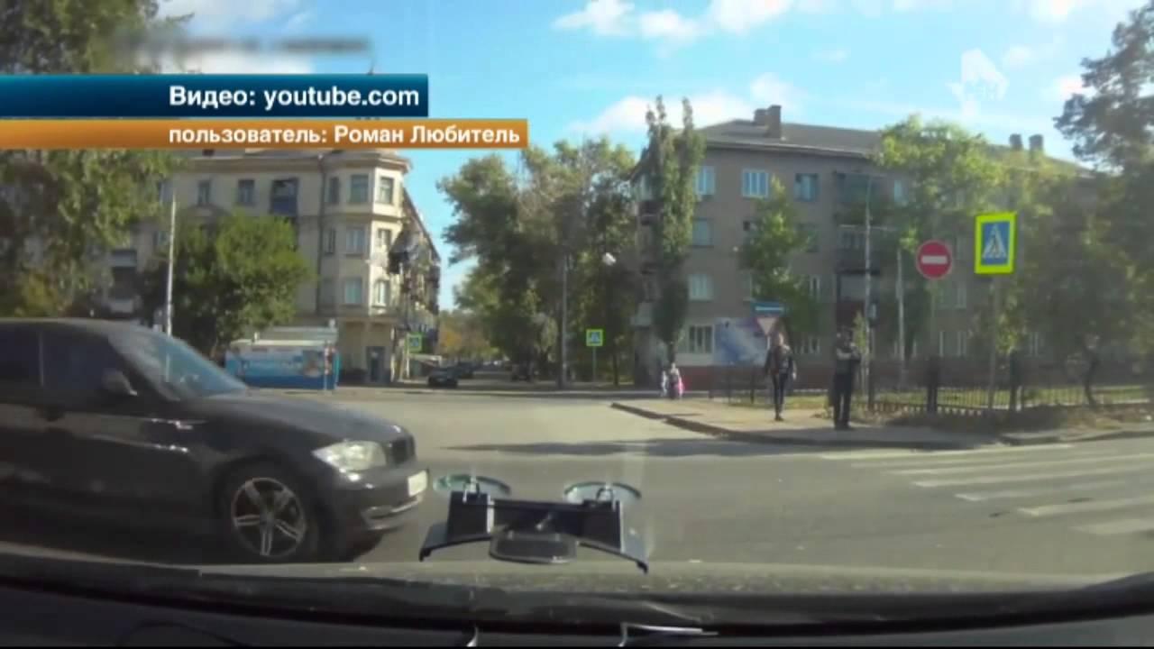 В Липецке легковой автомобиль на огромной скорости сбил женщину на пешеходном переходе