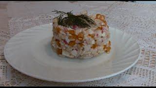 Салат с рисом и крабовым мясом. Сколько воспоминаний у каждого из нас!