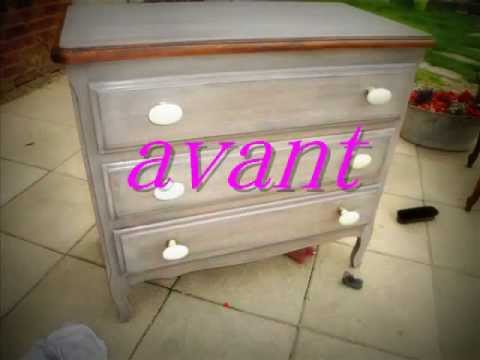 ancienne commode relook e patine tendance youtube. Black Bedroom Furniture Sets. Home Design Ideas