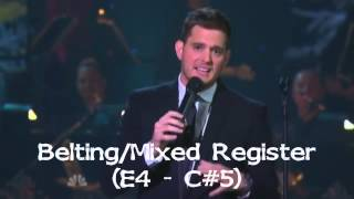 (HD) Michael Bublé - Live Vocal Range - Home for the Holidays 2012