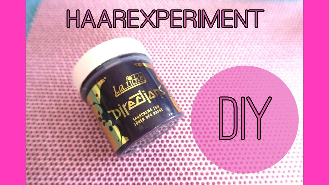 diy haarexperiment toner gegen gelbstich pastell lila youtube