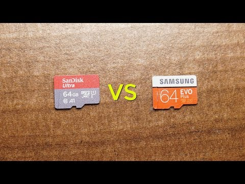 SanDisk Ultra Vs Samsung EVO Plus | MicroSD Card Speed Test