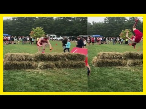 Breaking News | A gymnast took an acrobatic approach in this cross-country race