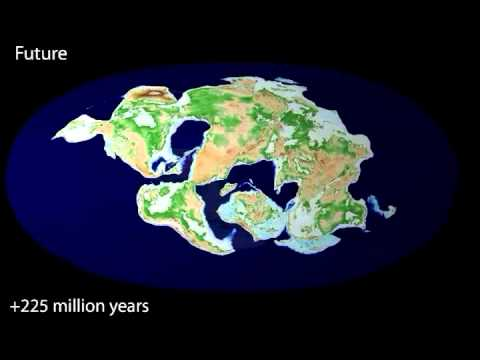 240 million years ago to 250 million years in the future
