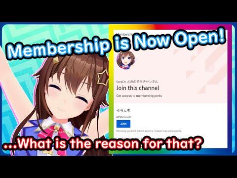 Why Sora opened her membership - Tokino Sora【 Hololive ▷ Eng sub】