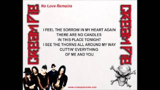 Cream Pie - No Love Remains (w/lyrics) Thumbnail