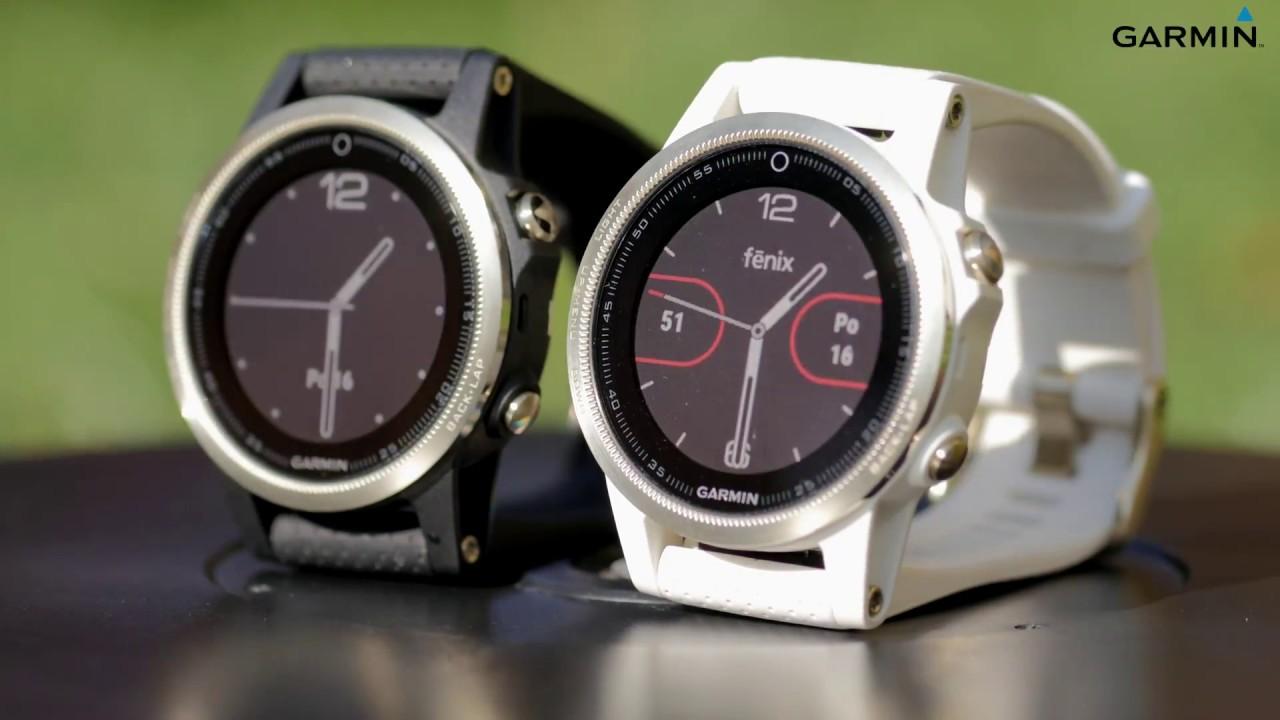 46014d9d2 GARMIN Fénix 5s, chytré a stylové dámské sportovní GPS hodinky - YouTube