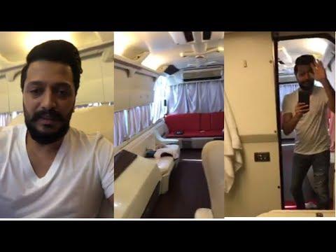 Inside view of Riteish Deshmukh Vanity Van | Ritesh Deshmukh Vanity Van Tour