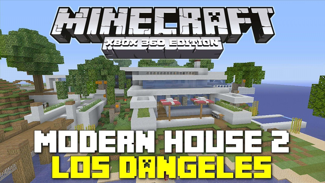 Minecraft xbox 360 tropical modern house house tours of for Modern house xbox minecraft