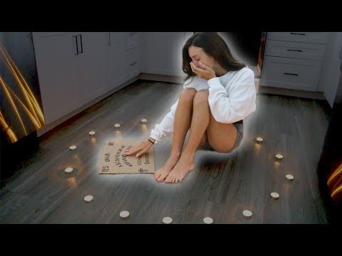 PLAYING THE OUIJA BOARD  MYSELF