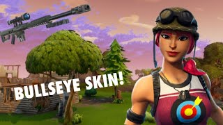 NEW BULLSEYE SKIN! GAMEPLAY! (Fortnite Battle royale)