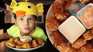 Chrupiące nuggetsy z kurczaka :) smacznie i zdrowo!