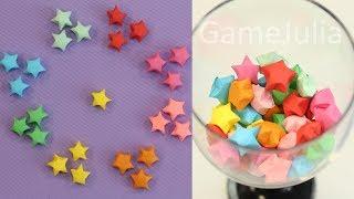 как сделать Звездочки счастья из бумаги. Оригами. How to make Lucky stars of paper. Origami