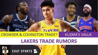 Lakers News: Kyle Kuzma's Trade Value + Lakers Trade Rumors On Robert Covington & Jae Crowder