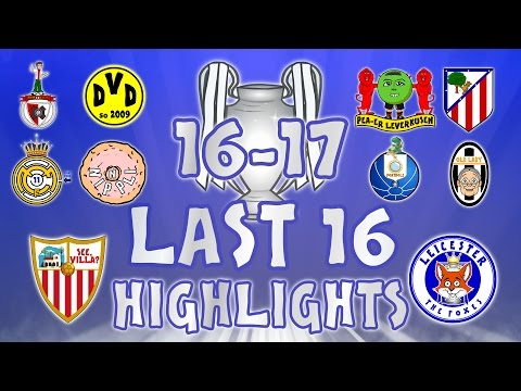 LAST 16 - 1st LEG HIGHLIGHTS! Sevilla Vs Leicester, Porto Vs Juventus, Real Madrid Vs Napoli + More!