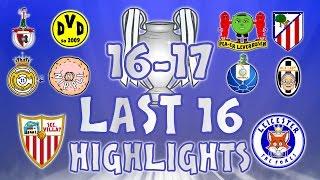 vuclip LAST 16 - 1st LEG HIGHLIGHTS! Sevilla vs Leicester, Porto vs Juventus, Real Madrid vs Napoli + more!