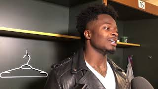 "San Francisco 49ers wide receiver Marquis Goodwin on ""very emotional"" 33-30 loss to Green Bay"