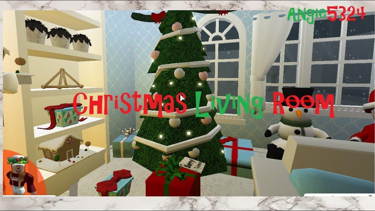 Welcome To Bloxburg Christmas Build #1: Living Room