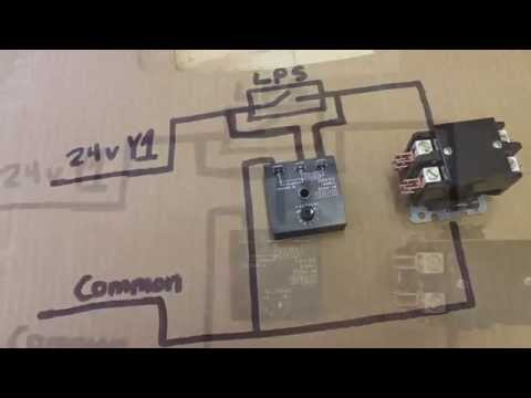 hvac relay training bypass timer youtube Acm Wiring Diagram