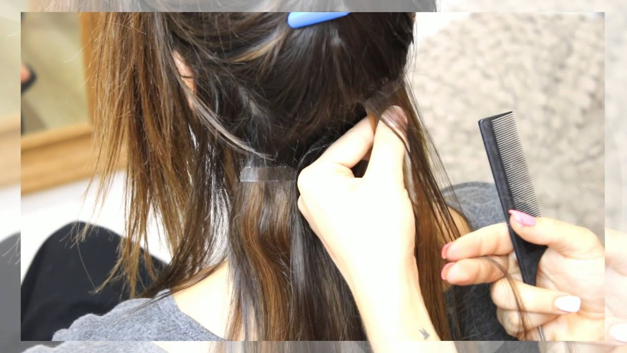 How to retape tape hair extensions tutorial youtube pmusecretfo Image collections