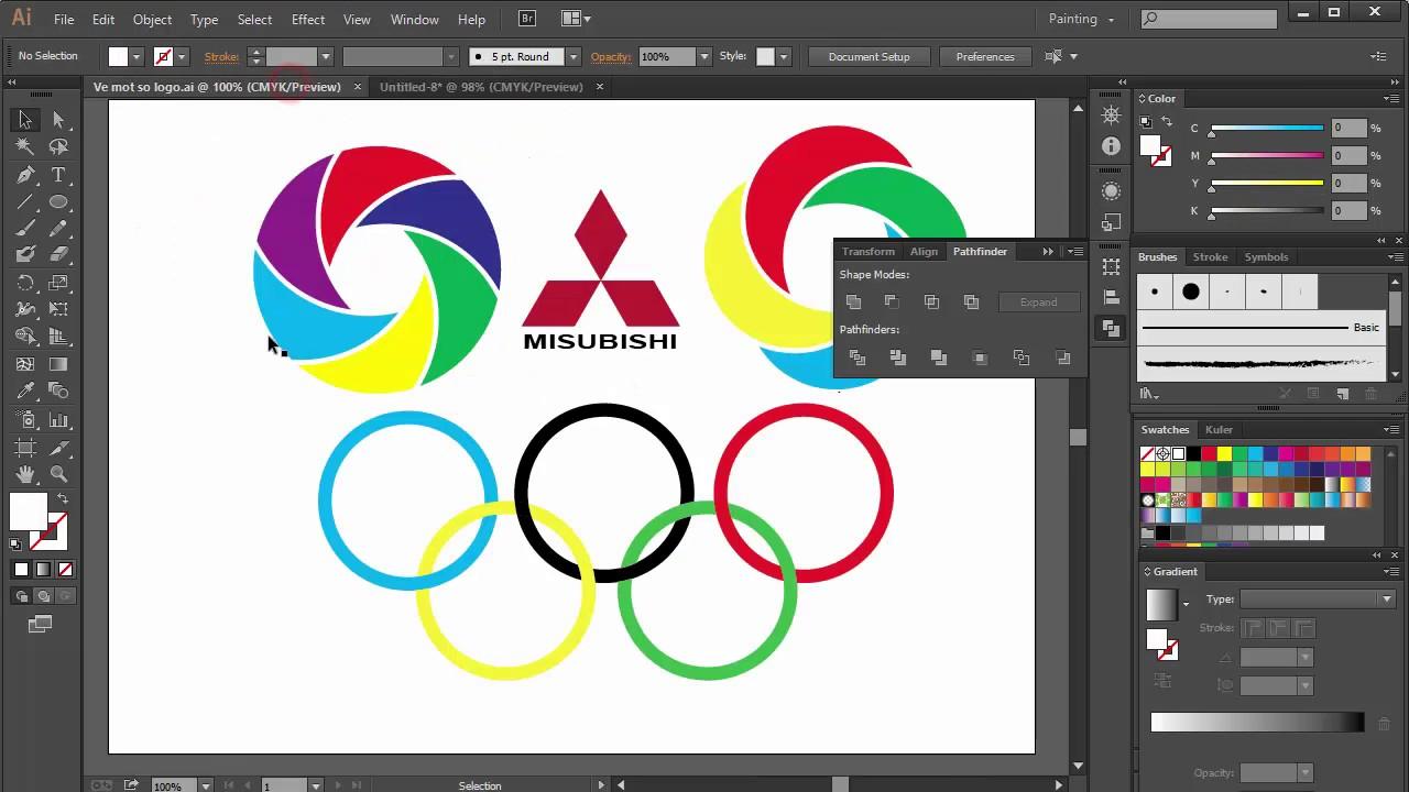 Bài 3. Sử dụng công cụ xoay và một số thao tác vẽ hình bằng Adobe Illustrator