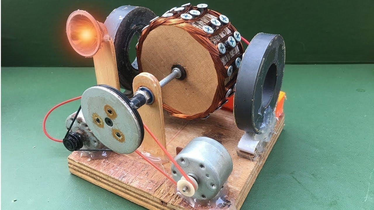 домик фото сделать генератор из двигателя от магнитофона каждым