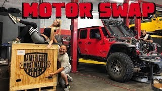 MOTOR SWAP! Our Jeep Wrangler JLU Rubicon Gets POWER!