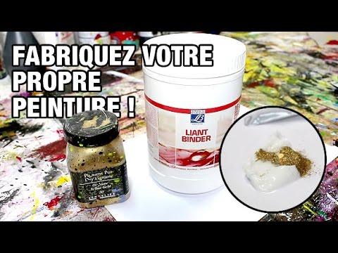 Fabriquer Sa Peinture Acrylique  Youtube
