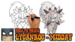How to Draw Lycanroc | Pokemon (Art Tutorial)