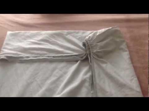 Как можно сложить простынь на резинке
