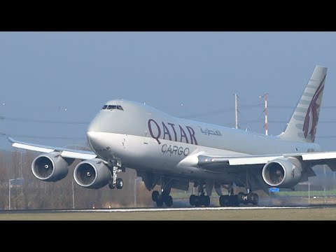 Smoky Landings At Amsterdam Schiphol Airport A380, B747, B777, A330, B767