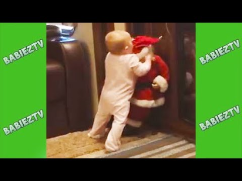 Kids and Babies Meeting with Santa Claus - Christmas 2019 Baby Hilarious Moments