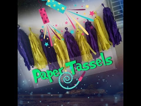 How to make paper tassels❤