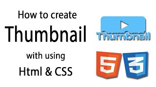 How to create Thumbnail Image in html and css