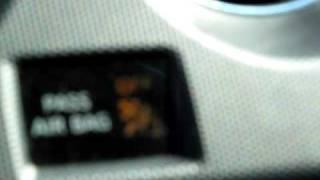 2009 Nissan Altima 2.5 airbag Light