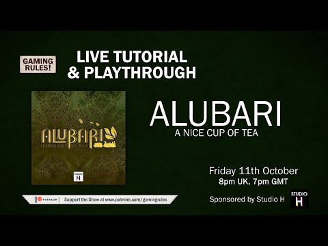 Alubari: A Nice Cup of Tea: Tutorial and Playthrough with Gaming Rules! thumbnail