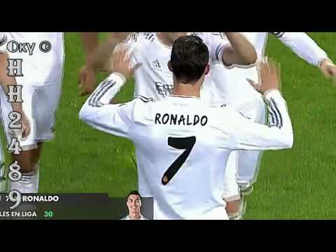 Real Madrid vs Osasuna 4-0 2014 →GOL Cristiano RONALDO (2-0)← Real Madrid 4:0 Osasuna ~ 26-04-2014
