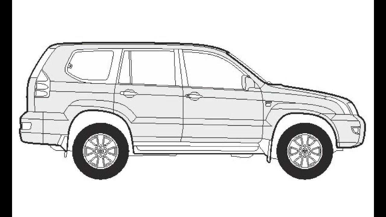 How to Draw a Toyota Land Cruiser / Как нарисовать Toyota