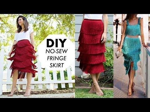 DIY: How To Make a NO-SEW Fringe Skirt! (DESIGNER HACK) -By Orly Shani