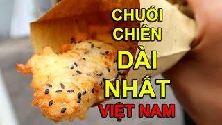 Đi ăn Chuối Chiên Dài Nhất Sài Gòn siêu ngon/ Vietnamese Fried Banana Cakes | Viet Nam | Review