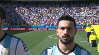 Argentina vs Switzerland National Anthems World Cup 2014