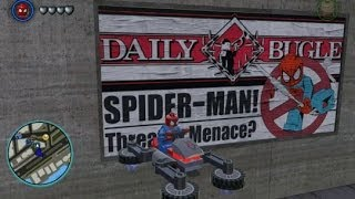 LEGO Marvel Super Heroes - Unlocking and Driving the Spider-Cycle - It Hovers! (Token Location)
